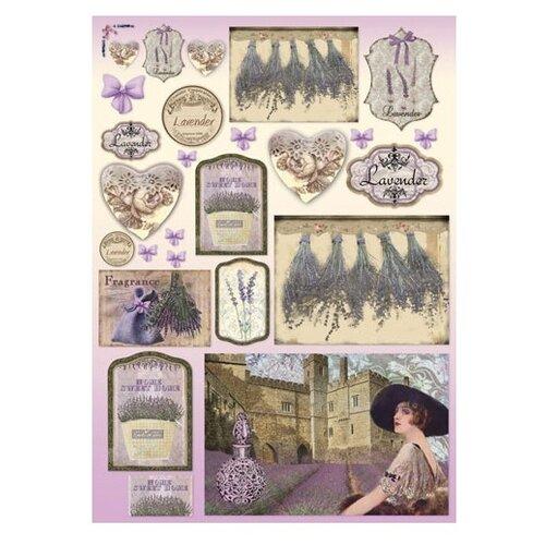 Купить Карта для декупажа Лаванда 50 х 70 см 1 лист, Stamperia, Карты, салфетки, бумага