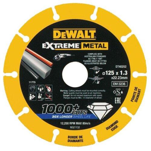 Диск алмазный отрезной DeWALT DT40252, 125 мм 1 шт. алмазный диск отрезной dewalt dt90294 125 x 22 2 h 12м dt90294 qz