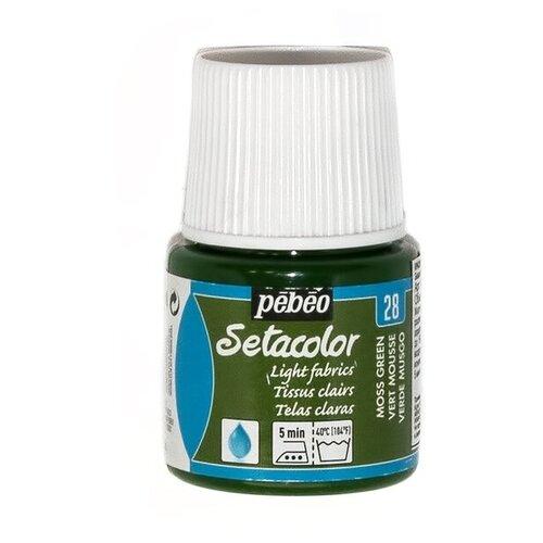 Купить Pebeo Краска для светлых тканей Setacolor 45 мл 28 зеленый мох, Краски