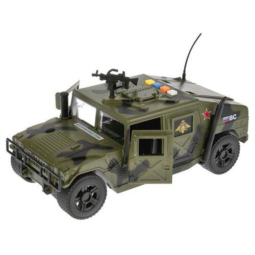 Купить Легковой автомобиль ТЕХНОПАРК Военный джип (WY610A) 23.5 см зеленый/черный, Машинки и техника