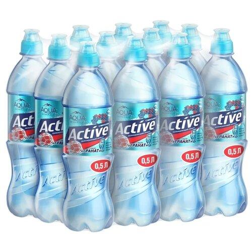 цена на Напиток негазированный Aqua Minerale Active Охлаждающий эффект со вкусом Гранат, 12 шт. по 0.5 л