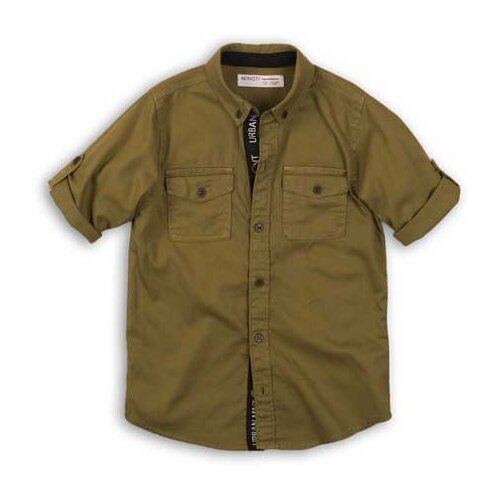 Рубашка Minoti размер 6-7л, зеленый брюки minoti размер 6 7л темно зеленый