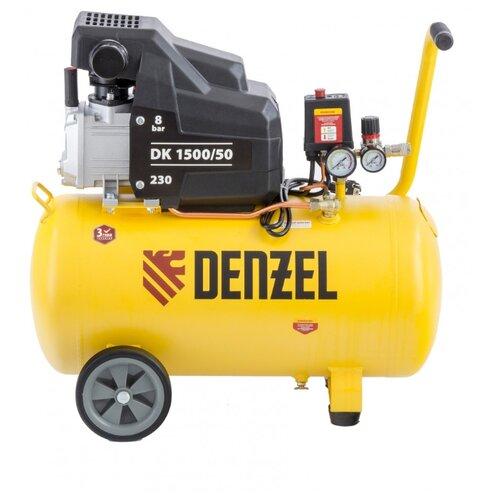 Компрессор масляный Denzel DK 1500/50 Х-PRO, 50 л, 1.5 кВт компрессор масляный denzel oc 1 24 206 24 л 1 5 квт