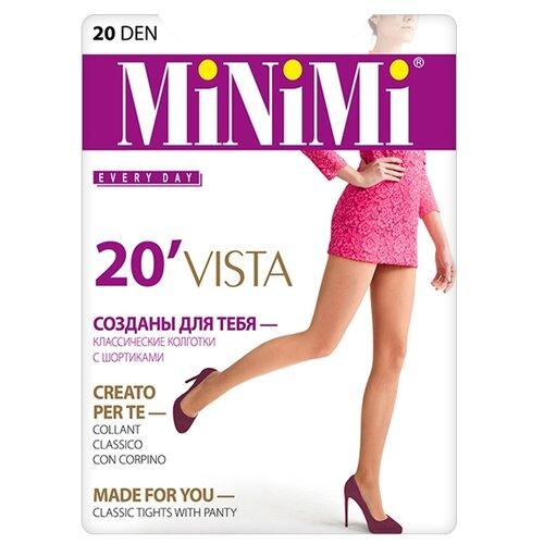 Колготки MiNiMi Vista 20 den, размер 4-L, daino (бежевый) колготки minimi idea 30 den размер 4 l daino бежевый
