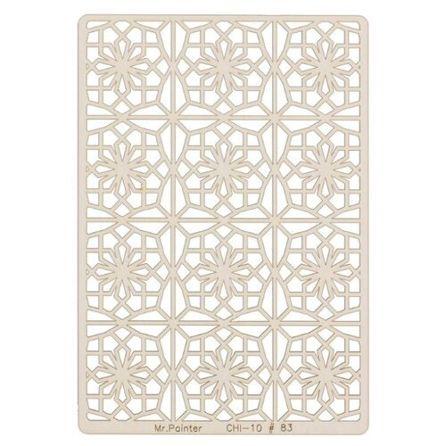 Купить Mr. Painter Чипборд для скрапбукинга CHI-10 11.5 см х 16.5 см 83 Мароканские звёзды бежевый, Украшения и декоративные элементы
