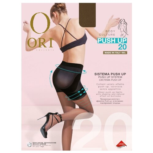 Колготки ORI Push Up 20 den, размер 3-M, bronzo (коричневый) цена 2017