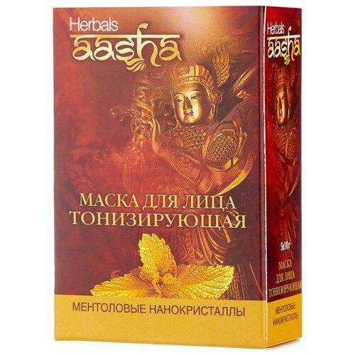 Aasha Herbals Маска для лица тонизирующая Ментоловые нанокристаллы, 10 г, 5 шт. тоник для лица aasha herbals aasha herbals aa003lwenjz5