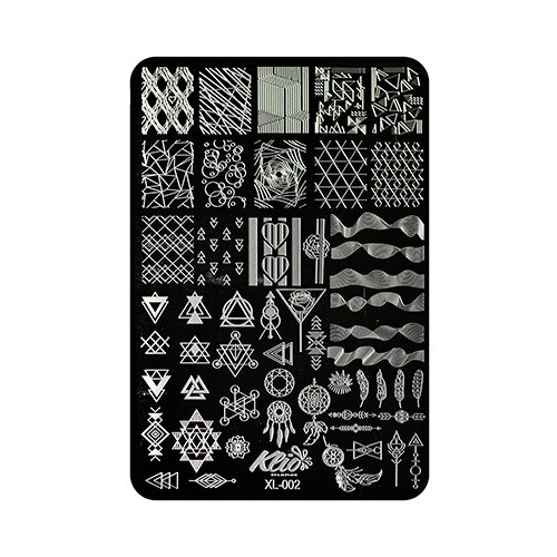Купить Трафарет KLIO Professional №002 15 х 11 см black