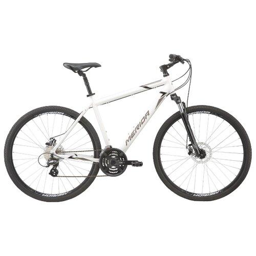 Горный гибрид Merida Crossway 15-MD (2020) white/tan L (требует финальной сборки) велосипед merida crossway 20 md 2013