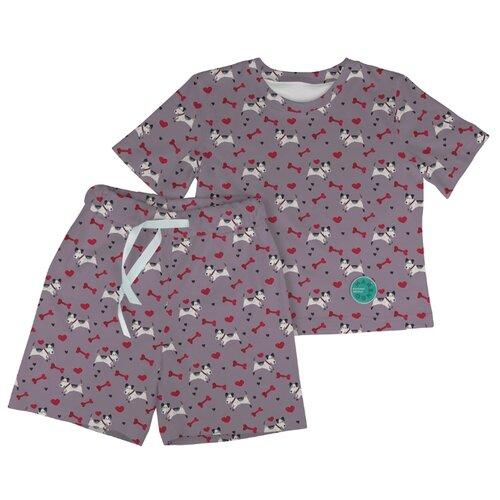 Купить Пижама Marengo Textile размер 140, серо-фиолетовый, Домашняя одежда