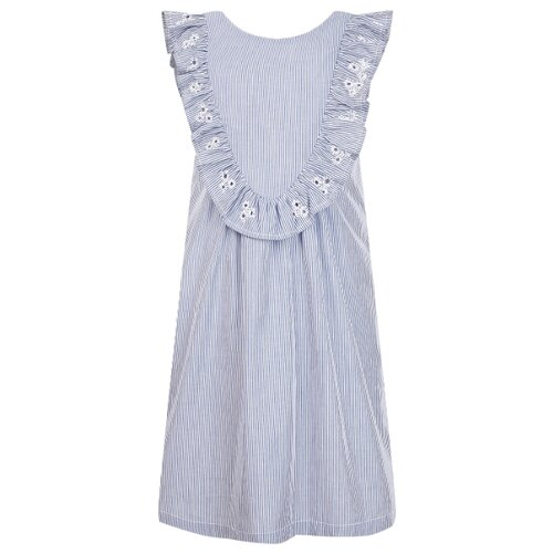 Платье Sonia Rykiel размер 104, белый/голубой/полоска