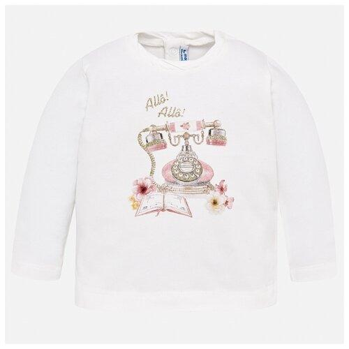 Лонгслив Mayoral размер 92, розовый платье mayoral размер 92 белый розовый