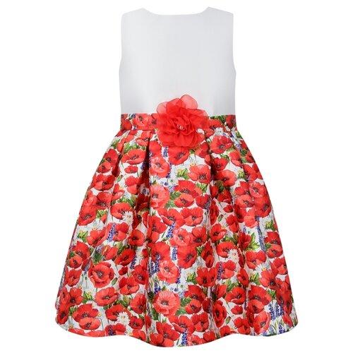 Платье Abel & Lula размер 122, цветочный принт/белый/красный платье oodji ultra цвет красный белый 14001071 13 46148 4512s размер xs 42 170