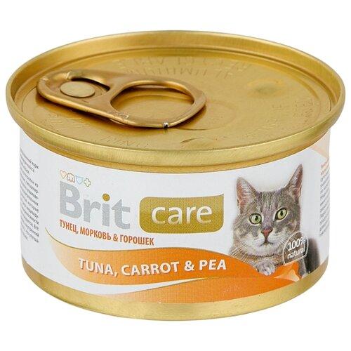 Фото - Корм для кошек Brit Care с тунцом 80 г (мини-филе) лакомство для собак brit let s bite fillet o duck филе утки 80 г