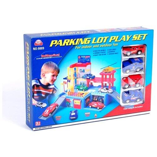 HLD Toys&Crafts Factory 9889 красный/желтый/синий/серый hld toys игровой набор парковка 1