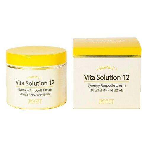 Jigott Vita Solution 12 Энергетический ампульный крем для лица, 100 мл