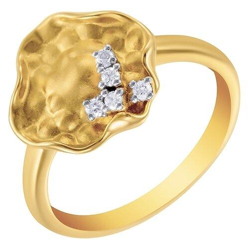 цена на JV Кольцо с 8 бриллиантами из жёлтого золота AAS-3827R-KO-YG, размер 17