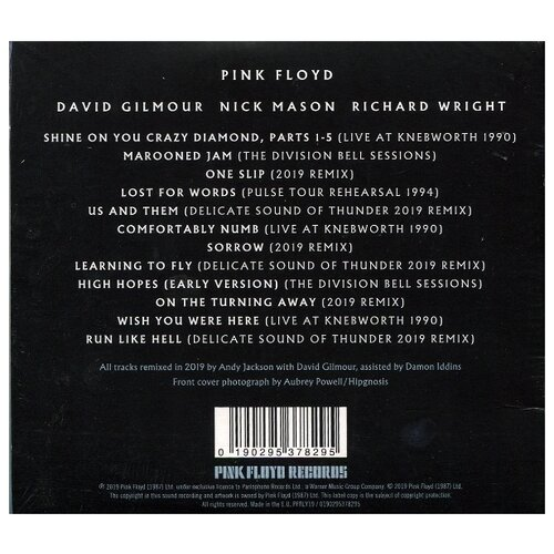 Pink Floyd. The Later Years 1987-2019 (CD)