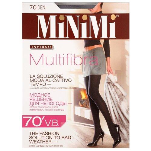 Колготки MiNiMi Multifibra V.B. 70 den, размер 1/2-S, fumo (серый) колготки minimi lanacotone 180 den размер 2 s m fumo серый