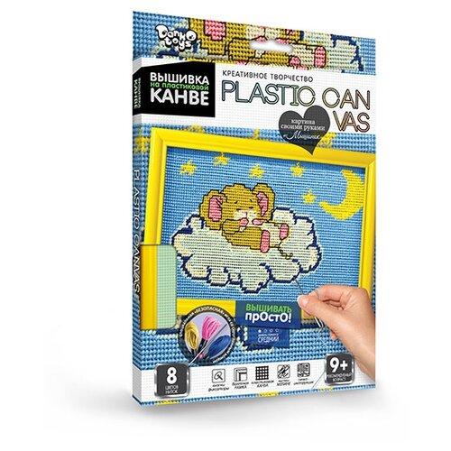 Купить Набор креатив.творч.PLASTIC CANVAS. Вышивка на пластиковой канве . Набор 9 Мышонок , Danko Toys, Наборы для вышивания