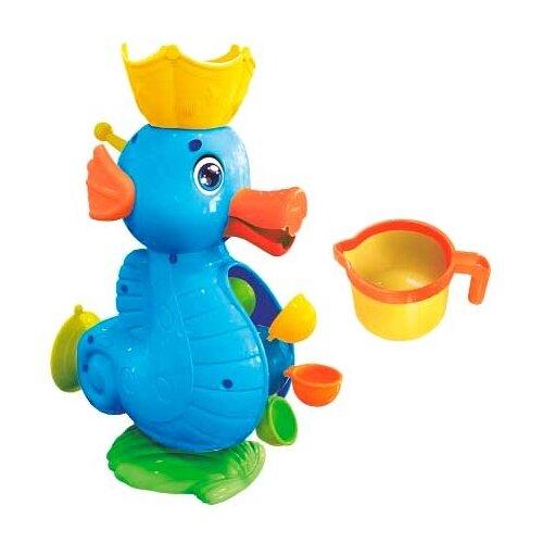Купить Игрушка для ванной Биплант Морской конек синий, Игрушки для ванной