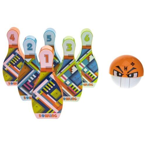 Купить Игровой набор 1TOY Боулинг (T17324) зеленый/оранжевый/голубой, 1 TOY, Спортивные игры и игрушки