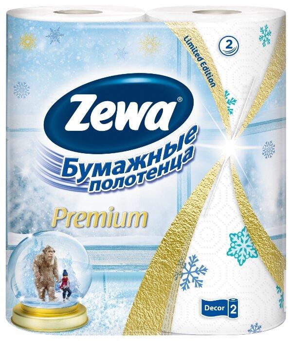 Полотенца бумажные Zewa Premium Декор двухслойные