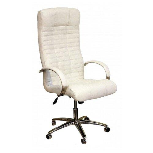 Компьютерное кресло Креслов Атлант КВ-02-131112, обивка: искусственная кожа, цвет: белый кресло компьютерное креслов орман кв 08 130112 0453