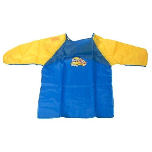 JOVI Фартук-накидка с рукавами S (103) синий/желтый