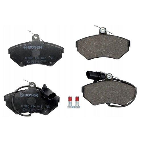 Фото - Дисковые тормозные колодки передние Bosch 0986494042 для Audi A4, Audi A6, Volkswagen Passat (4 шт.) дисковые тормозные колодки передние ferodo fdb1832 для audi a6 audi a8 volkswagen phaeton 4 шт