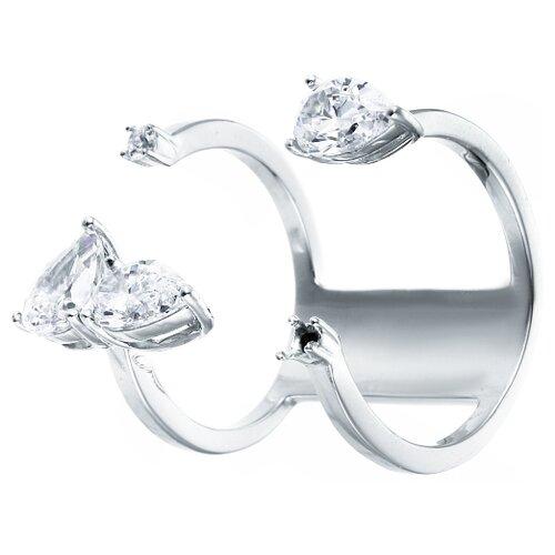 Фото - ELEMENT47 Широкое ювелирное кольцо из серебра 925 пробы с кубическим цирконием F-642R_001_WG, размер 16 element47 широкое ювелирное кольцо из серебра 925 пробы с кубическим цирконием f 642r 001 wg размер 16