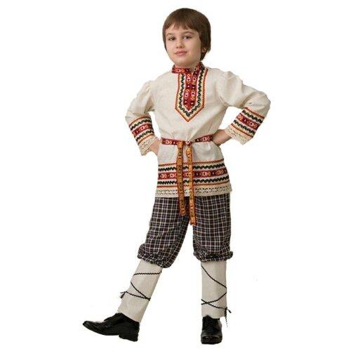 Купить Костюм Батик славянский для мальчика (5603), бежевый, размер 128, Карнавальные костюмы