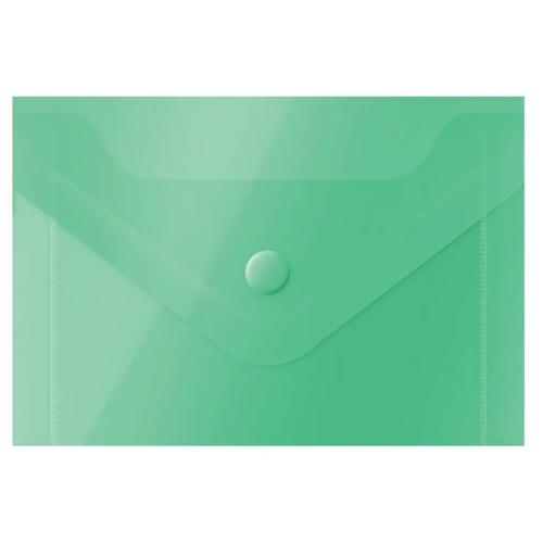 Купить OfficeSpace Папка-конверт на кнопке А7, пластик 150 мкм, 20 шт зелeный, Файлы и папки