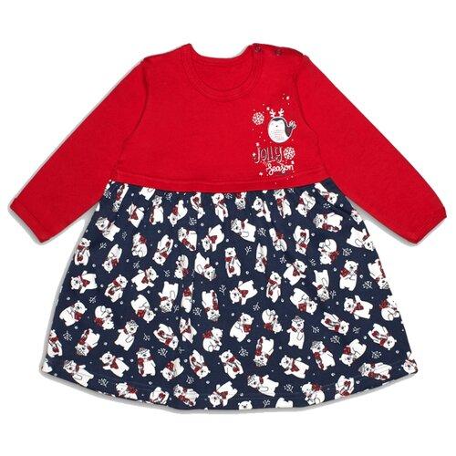 Платье Веселый Малыш размер 80, красный платье oodji ultra цвет красный белый 14001071 13 46148 4512s размер xs 42 170