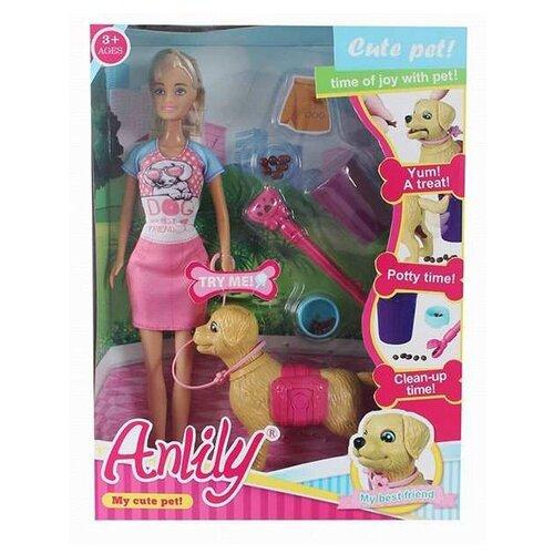 Кукла Anlily с питомцем и аксессуарами, 32 см, 99123 кукла anlily с одеждой 200170509