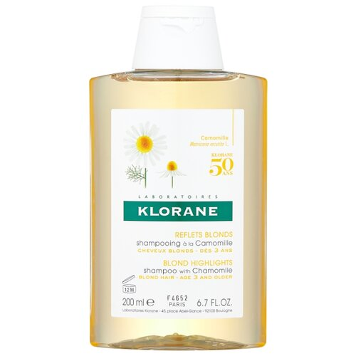 Klorane шампунь Blond Highlights with Сhamomile 200 мл klorane шампунь oil control shampoo with nettle 200 мл