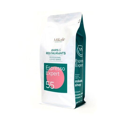 Кофе в зернах Mikale Bars&Restaurants Espresso expert 55, арабика/робуста, 1000 г