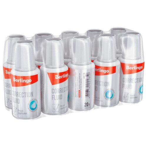 цена на Berlingo Корректирующая жидкость с кистью 20 мл, 10 шт белый