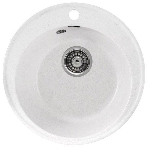 Врезная кухонная мойка 47.5 см Gerhans A05 18 белый gm a05