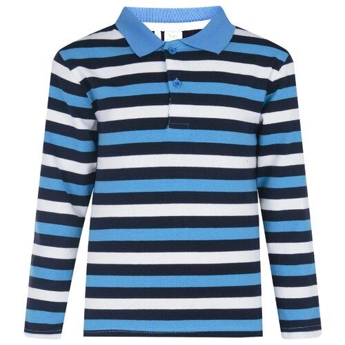 Поло Fun time размер 92, голубой/белый, Футболки и рубашки  - купить со скидкой