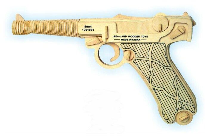 """Купить Сборная деревянная модель """"Пистолет Люгер"""" по низкой цене с доставкой из Яндекс.Маркета (бывший Беру)"""
