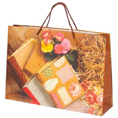 Пакет подарочный Grand Gift Книги 27 x 38 x 10 см коричневый