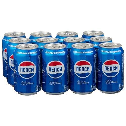 Газированный напиток Pepsi, 0.33 л, 12 шт. газированный напиток мингаз лимонад 0 5 л 12 шт
