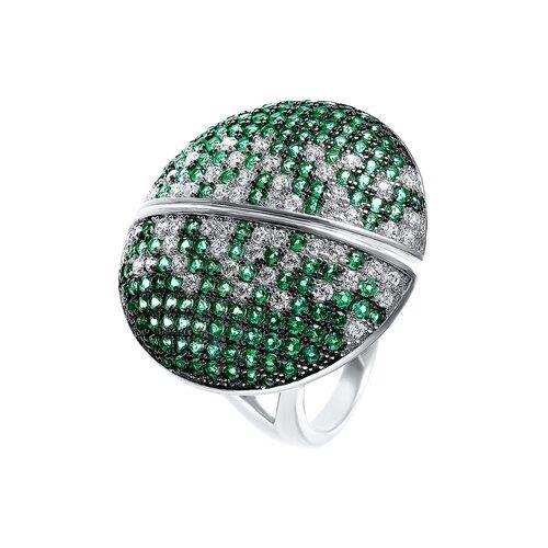 JV Кольцо с фианитами из серебра R27103-W2-KO-001-WG, размер 17.5 jv кольцо с фианитами из серебра r27103 w3 ko 001 wg размер 16 5