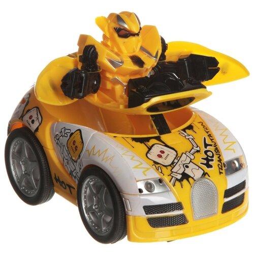 Робот-трансформер Zhorya Авто-робот ZYC-0858-3B желтый/белый конструктор игрушечный zhorya робот вертолет