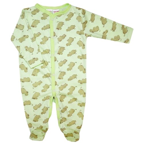 Комбинезон KotMarKot размер 74, зеленый комбинезон для мальчика совенокя совята цвет зеленый 2 484 размер 74