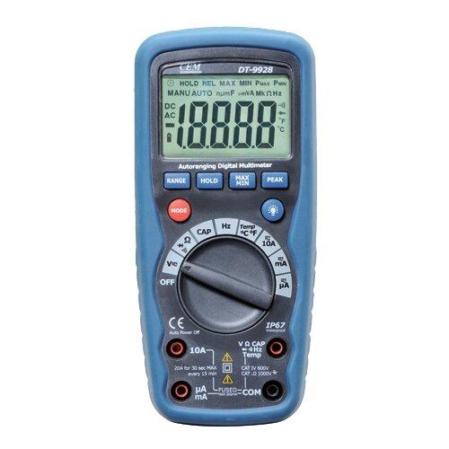 Мультиметр цифровой CEM DT-9928T мультиметр cem dt 61