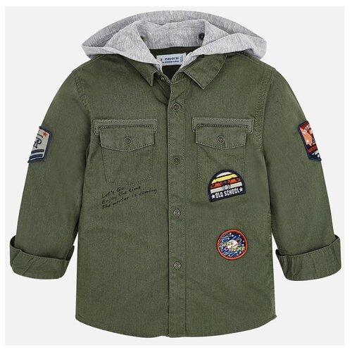 Купить Рубашка Mayoral размер 122, зеленый, Рубашки