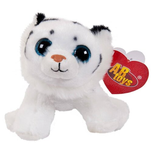 Купить Мягкая игрушка ABtoys Тигрёнок белый 14 см, Мягкие игрушки