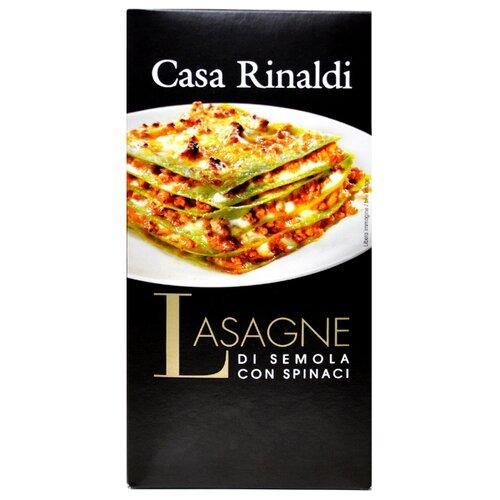 Casa Rinaldi Лазанья из муки твердых сортов пшеницы со шпинатом ручной работы 500 г мистраль крупа манная семолина из твердых сортов пшеницы 450 г